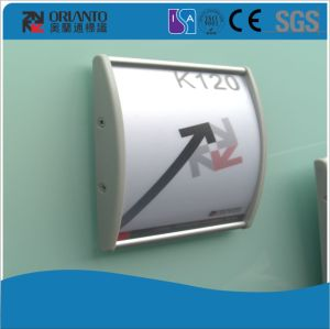 Aluminium Curved Way Finding Wall Mounted Sign pictures & photos