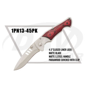 "4.5""Closed Liner Lock Outdoor Knife with Pakkawood Handle: 1pn13-45pk pictures & photos"