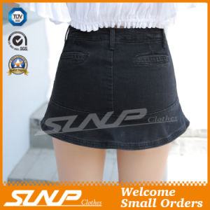 High Waisted Women Jean Cotton Shorts pictures & photos