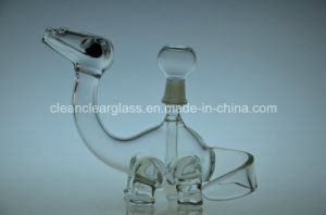Ccg Top Selling Cute Dinosaur Shape Glass Water Pipe Oil Rig with 14.5mm Joint