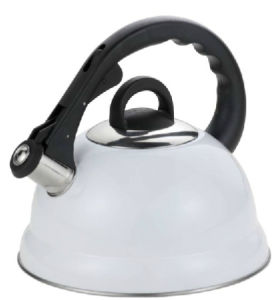 3.0L Auto Open Fixed Bakelite Handle Stainless Steel Whistling Kettle (TK010) pictures & photos