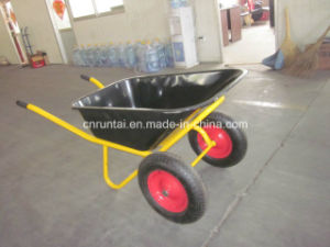Double Hot Sell Galvanized Tray Wheelbarrow (Wb6404W) pictures & photos