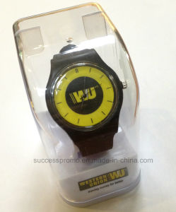Promotion Silicone Quartz Watch with Customer Logo in Plastic Box pictures & photos