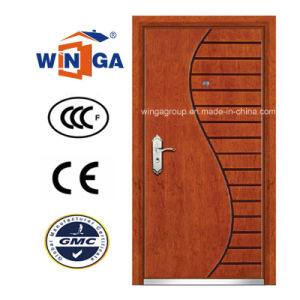 Art Style Winga Security Steel MDF Veneer Armored Door (W-A-9) pictures & photos