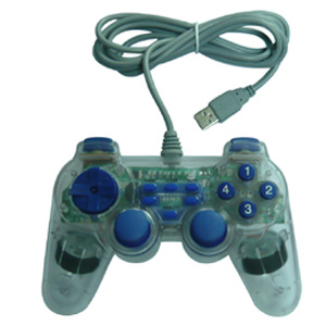 PC Transparent Color with Double Shock Gamepad (ADJ-881)