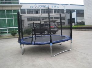 10ft Round Trampoline with Safe Net and Ladder