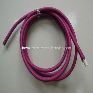 Deep Red Textile Cable Power Cord pictures & photos