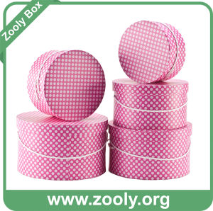 Round Storage Box Set / Printed Paper Round Hat Boxes pictures & photos