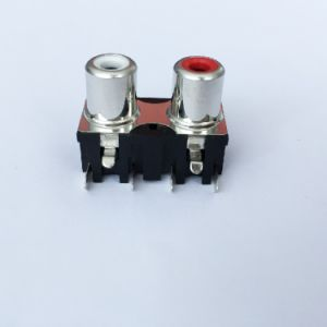 AV Socket with The Core Lotus Single-Hole RCA Socket Audio and Video Terminals AV2-8.4-30 pictures & photos