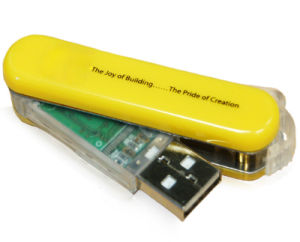 Yellow Rotate USB, USB Flash Drives (PZS011) pictures & photos