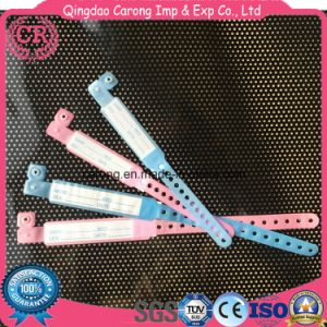 Disposable Pink Blue PVC ID Band for Hospital Use pictures & photos