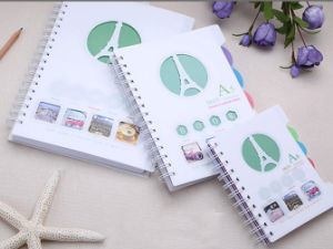 Spiral PP Cover Notebook with Assorted Color PP Dividers pictures & photos