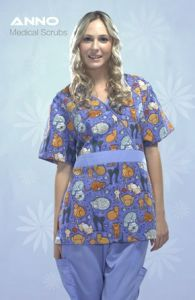 New Style Printed Scrub Medical Uniform Nursing Hospital Wear pictures & photos