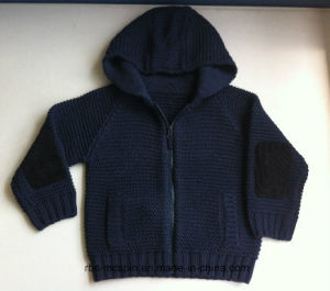 Kids Hoody Cardigan- Reverse Knitted Sweater for Boy pictures & photos