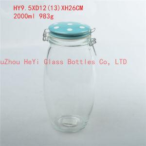 2L Glass Food Jar with Lid Seal Glass Jar
