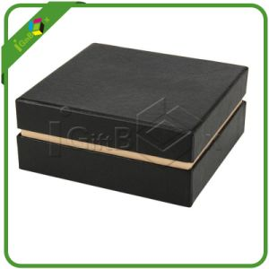 Luxury Black Matte Packaging Cardboard Gift Paper Jewelry Box pictures & photos
