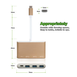 USB USB-C Male to Hub for 3*USB 3.0 Port with a USB 3.1 & Charger pictures & photos