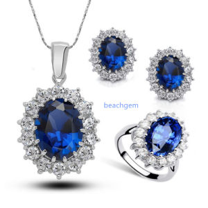 Jewellery Set -Sterling Silver with Tanzanite (S3328) pictures & photos