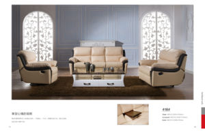 Beige Color Sofa Sets with Table pictures & photos