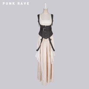 Punk Unique Design Vintage Women Long Dress (Q-242) pictures & photos