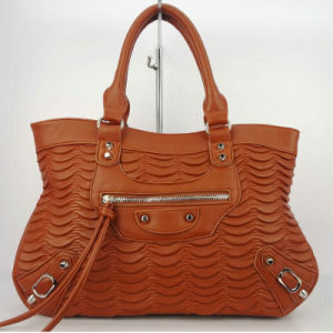 Brown Wrinkled PU Tote Bag pictures & photos