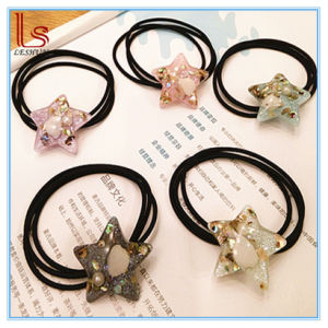 5 Colors Plastic Star Shape Hair Bands with Shell pictures & photos