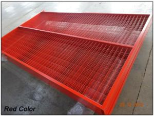 6X10FT Canada Easy Install Powder Coating Construction Temporary Fence Panels Available Any Color pictures & photos