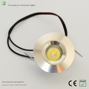 Round 1W Recessed LED Cabinet Light