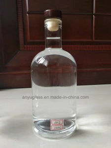 750ml 700ml White Clear Wine Spirit Glass Bottles with Cork Stopper Finish pictures & photos
