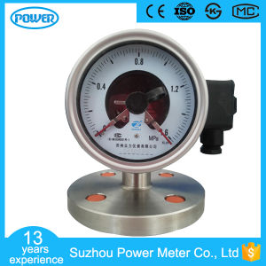"4""100mm Stainless Steel Diaphragm Seal Electric Contact Pressure Gauge pictures & photos"