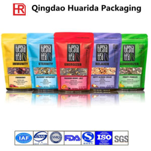 Selfstanding Zip Lock Aluminum Foil Tea Packing with FDA Approve pictures & photos