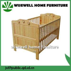 Pine Wood Baby Cot Designs pictures & photos