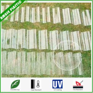 UV-Coated PC Corrugated Roofing Panels Top Quality Polycarbonate Patio Skylight Sheets pictures & photos