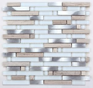 2017 Europe Popular Glass, Marble and Metal Mosaic pictures & photos