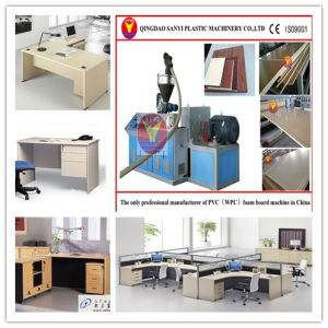 Wood Plastic Machine-WPC Office Board Machine pictures & photos