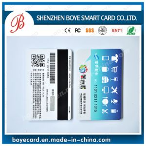 Qr and Embossing Code Magnetic Stripe Smart Card pictures & photos