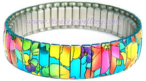 Colorful Metal Spring Bracelet (CB-142)