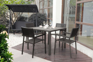 5PCS Black Classic Polywood Dining Sets