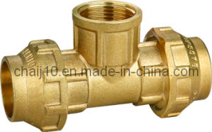 Brass Female Tee Pipe Fittings for PE Pipe Fitting pictures & photos