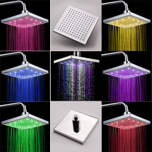 7colors 200mm Square ABS LED Shower Head pictures & photos