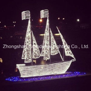 LED 3D Rope and String Motif Ship Christmas Light pictures & photos