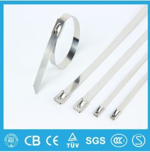 201 304 316 Ball Lock Polyester Coated Stainless Steel Cable Tie pictures & photos