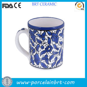 Chinese Blue and White Flower Design Tea Mug pictures & photos