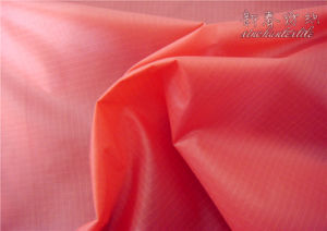 Nylon Rib/Stop 410t Fabric with Heavy Cire and PU pictures & photos