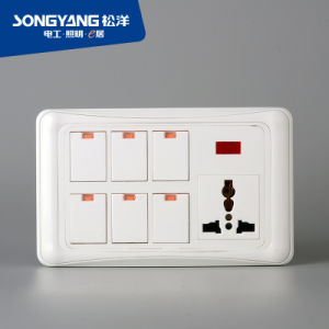 PC Series 6gang&Mf Wall Switch pictures & photos