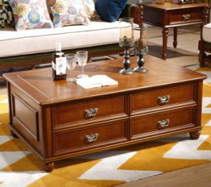 High Quality America Style Bedroom Furniture Wooden Bed (101) pictures & photos