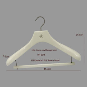 Glossy White Wooden Top Hanger with Bar pictures & photos