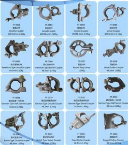 Types of Scaffolding Swivel Clamp Coupler pictures & photos