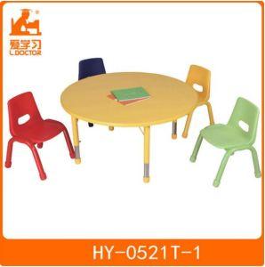 Round Wooden Kindergarten Table of Kids Furniture pictures & photos