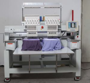 Topwisdom Computer 2 Head Computerized Cap Embroidery Machine pictures & photos